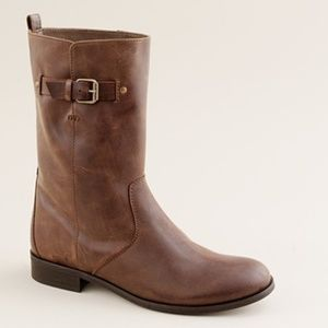 J.Crew Billie Short Buckle Ankle Boot in Brown 7